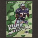 KEVIN FAULK 1999 Fleer Mystique PROtential RC - LSU & New England Patriots