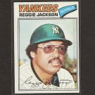 REGGIE JACKSON - 1977 Topps - NMint - FIRST YANKEES CARD