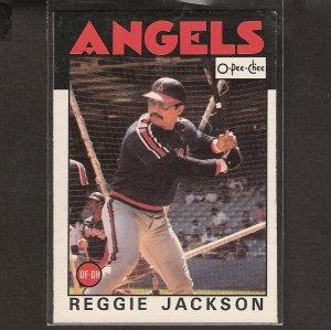 REGGIE JACKSON - 1986 O-Pee-Chee - NMint - Yankees & Angels