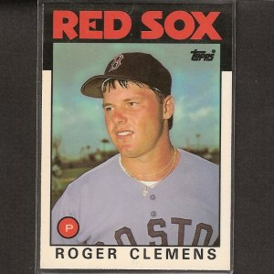ROGER CLEMENS - 1986 Topps Tiffany 2nd Year - Red Sox & Yankees