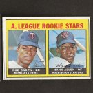 ROD CAREW - 1967 Topps High Number ROOKIE - Twins & Angels