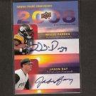 JASON BAY & WILLIE PARKER - 2008 Upper Deck Hawaii Trade Show - Dual Autograph - Steelers & Pirates