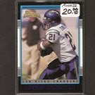 LaDAINIAN TOMLINSON- 2001 Bowman ROOKIE -TCU Horned Frogs, Jets & Chargers
