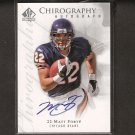 MATT FORTE - 2008 SP Chirography Autographed Rookie - Bears & Tulane