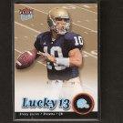 BRADY QUINN - 2007 Ultra Lucky 13 ROOKIE - Notre Dame & Cleveland Browns