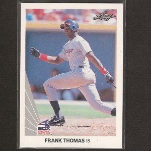 FRANK THOMAS 1990 Leaf Baseball - ROOKIE - White Sox & Oakland A's