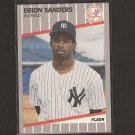 DEION SANDERS - 1989 Fleer Update ROOKIE CARD - NY Yankees