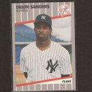 DEION SANDERS - 1989 Fleer Update ROOKIE CARD - NY Yankees