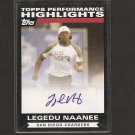 LEGEDU NAANEE - 2007 Topps Autograph RC - Chargers & Boise State