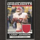 LARRY JOHNSON - 2007 Topps Game-Used JERSEY - Chiefs, Bengals & Nittany Lions