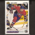 JOHN LeCLAIR 1991-92 Upper Deck ROOKIE - Flyers, Canadiens & UVM Catamounts