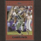 TERRELL OWENS 2007 Topps Copper - Bills & Cowboys