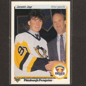 JAROMIR JAGR 1990-91 Upper Deck  FRENCH ROOKIE - Penguins & Rangers