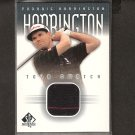 PADRAIG HARRINGTON - 2001 SP Authentic Golf - PGA Tour Swatch