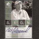 MARK CALCAVECCHIA - 2002 SP Authentic Golf - PGA Signs of the Times AUTOGRAPH