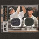 COREY PAVIN & CRAIG STADLER - 2003 SP Game Used Golf - PGA DUAL Swatch - AUTHENTIC FABRIC DOUBLES