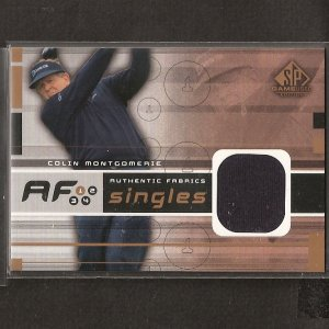 COLIN MONTGOMERIE - 2003 SP Game Used Golf - PGA DUAL Swatch - AUTHENTIC FABRICS SINGLES
