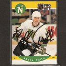 BOBBY SMITH - Minnesota North Stars - 1990-91 Pro Set  AUTOGRAPH