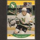 BRIAN PROPP - Minnesota North Stars - 1990-91 Pro Set  AUTOGRAPH