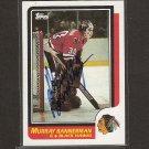 MURRAY BANNERMAN - Chicago Blackhawks - 1986-87 Topps AUTOGRAPH