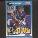 SERGEI NEMCHINOV - New York Rangers - 1991-92 Score AUTOGRAPH