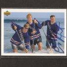 TONY AMONTE - Blackhawks, Rangers, Flames & BU Terriers - 1991-92 Upper Deck AUTOGRAPH