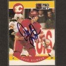 DOUG GILMOUR - Blues, Flames, Canadiens Blackhaws & Maple Leafs - 1990-91 Pro Set  AUTOGRAPH