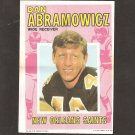 DAN ABRAMOWICZ 1971 Topps Football Mini Poster - 49ers, Saints & Xavier