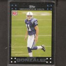 ANTHONY GONZALEZ - 2007 Topps Rookie Card - Colts & Ohio State Buckeyes