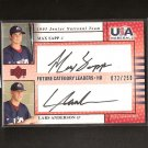 LARS ANDERSON & MAX SAPP - 2005 Upper Deck Team  USA Rookie Autograph - Red Sox & Astros