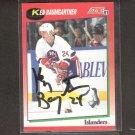 KEN BAUMGARTNER - New York Islanders - 1991-92 Score AUTOGRAPH