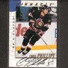 CHRIS PHILLIPS - 1997-98 Be A Player Rookie AUTOGRAPH - Ottowa Senators