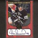 YANIC PERREAULT - 1997-98 SP Authentic S.o.T. AUTOGRAPH - Kings, Maple Leafs, Canadiens & Blackhawks