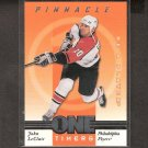 JOHN LeCLAIR 1997-98 Be A Player One Timers- Canadiens, Flyers & Vermont Catamounts