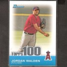 JORDAN WALDEN 2010 Bowman Topps 100 - Los Angeles Angels