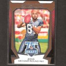 GOLDEN TATE 2010 Topps 75th Draft Rookie - Seattle Seahawks & Notre Dame