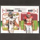 BRIAN DAWKINS & ERIC BERRY 2010 Topps Gridiron Lineage Rookie - Denver Broncos & Kansas City Chiefs