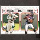 BRANDON MARSHALL & DEMARYIUS THOMAS 2010 Topps Gridiron Lineage Rookie - NY Jets & Broncos