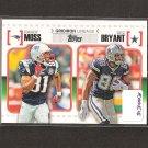 RANDY MOSS & DEZ BRYANT 2010 Topps Gridiron Lineage Rookie - Patriots & Cowboys