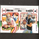 JOE MONTANA & JIMMY CLAUSEN - 2010 Topps Gridiron Lineage Rookie - 49ers & Panthers