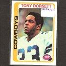 TONY DORSETT 2010 Topps Rookie REPRINT - Dallas Cowboys & Pitt Panthers