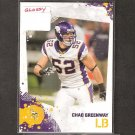 CHAD GREENWAY - 2010 Score GLOSSY Parallel - Vikings & Iowa Hawkeyes