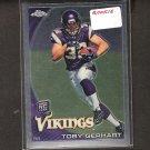 TOBY GERHART - 2010 Topps Chrome Rookie - Vikings & Stanford Cardinal