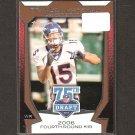 BRANDON MARSHALL - 2010 Topps 75th Draft - NY Jets, Broncos & Central Florida