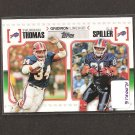 THURMAN THOMAS & CJ SPILLER 2010 Topps Gridiron Lineage Rookie - Buffalo Bills