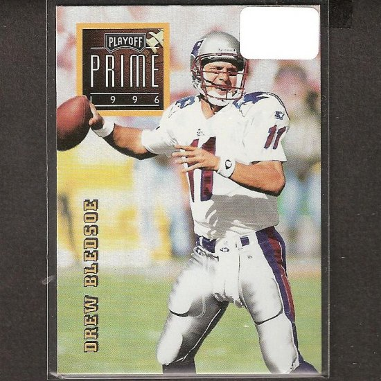 DREW BLEDSOE - 1996 Playoff Prime Gold RARE - Patriots, Cowboys & Washington State Cougars