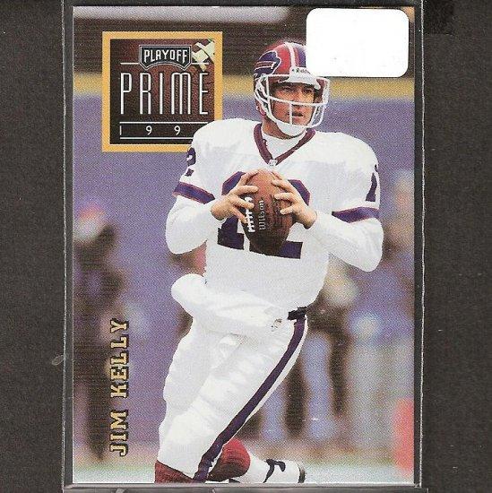 JIM KELLY - 1996 Playoff Prime Gold RARE - Bills & Miami Hurricanes