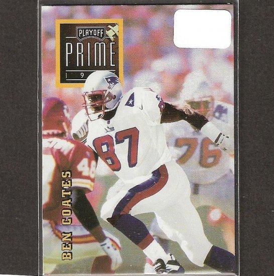 BEN COATES - 1996 Playoff Prime Gold RARE - Patriots & Livingstone College