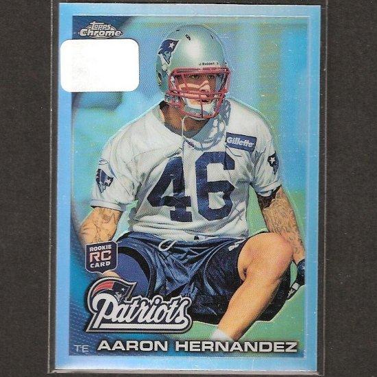 AARON HERNANDEZ - 2010 Topps Chrome REFRACTOR Rookie Card - Patriots & Florida Gators