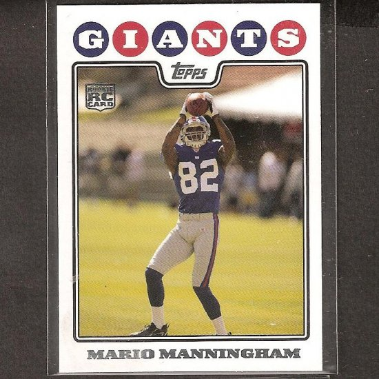 MARIO MANNINGHAM - 2008 Topps Rookie- NY Giants & Michigan Wolverines